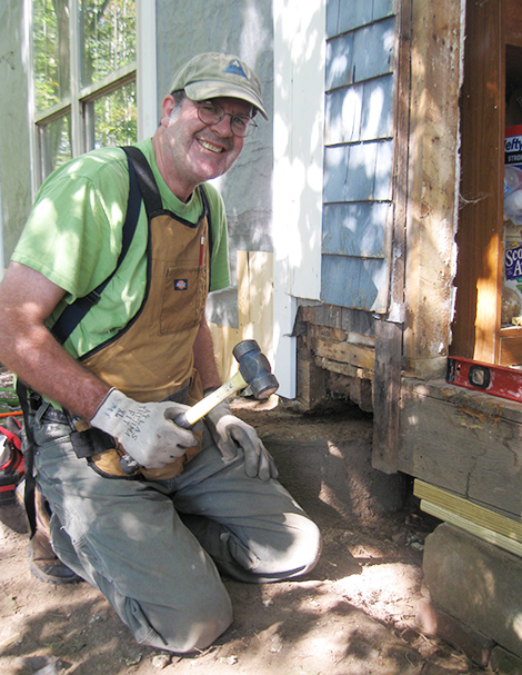 Steve Phillips working on a home repair